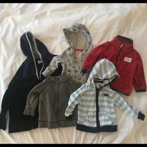 Baby Boy 6 Sweatshirt Lot